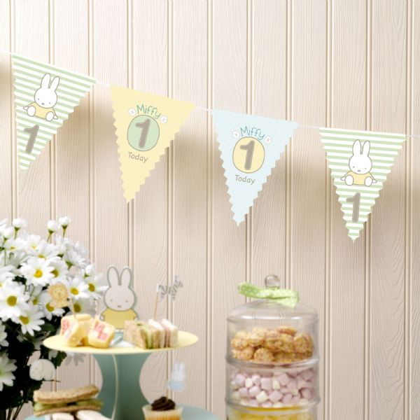 Baby Miffy 1st Birthday Bunting